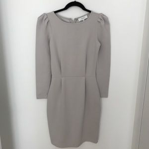Reiss Nessa Puff-Sleeve Jersey Dress - US 2/UK 6